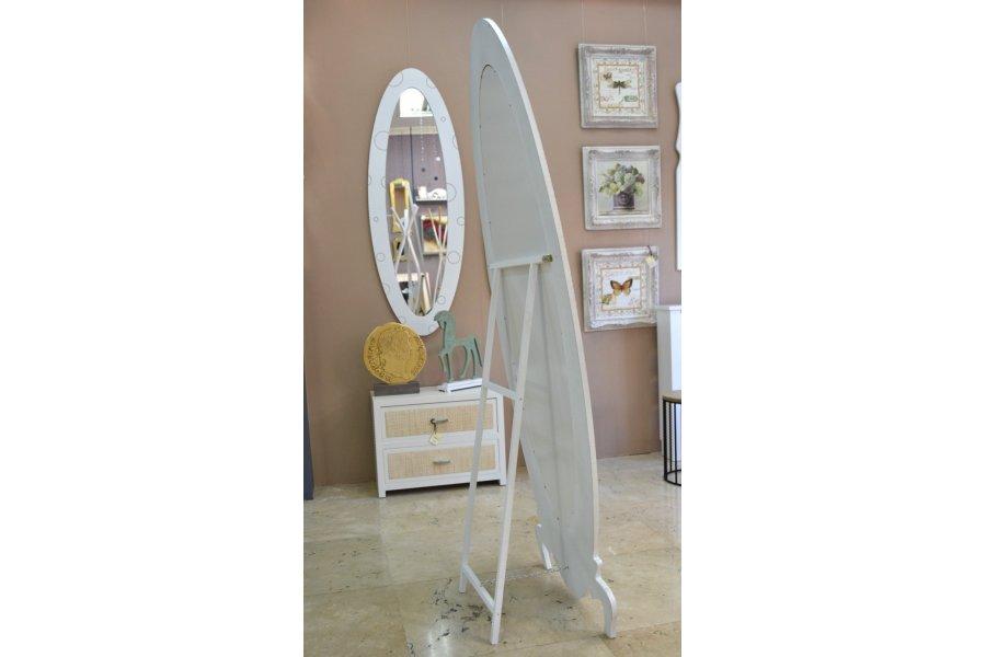 Espejo vestidor blanco for Espejo recibidor blanco