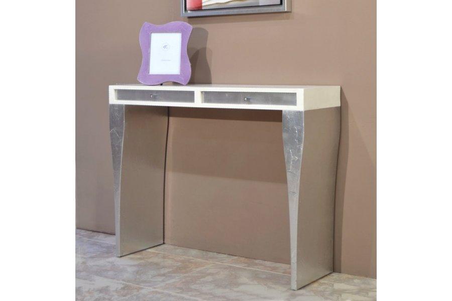 Mueble recibidor con cuadro rbol emilio rubio - Muebles pintados en plata ...