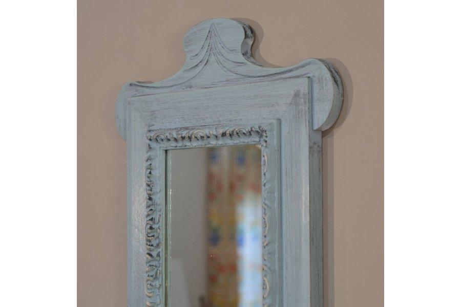 espejo estrecho alargado con copete