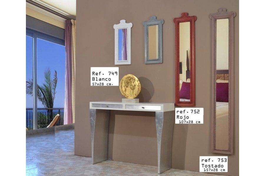 Espejo estrecho con copete emilio rubio for Espejos estrechos