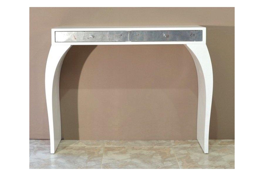 Mueble recibidor espejo blanco y plata emilio rubio - Mueble provenzal blanco ...