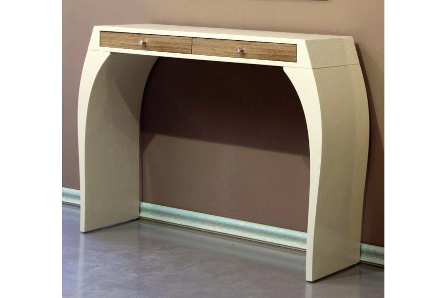 Mueble Auxiliar > Mueble Recibidor consola Beige y Espejo Roble