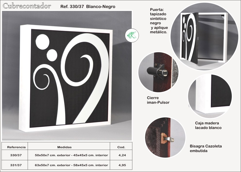 Tapa contadores de diseo latest tapa contador clsico - Tapas decorativas para contadores luz ...