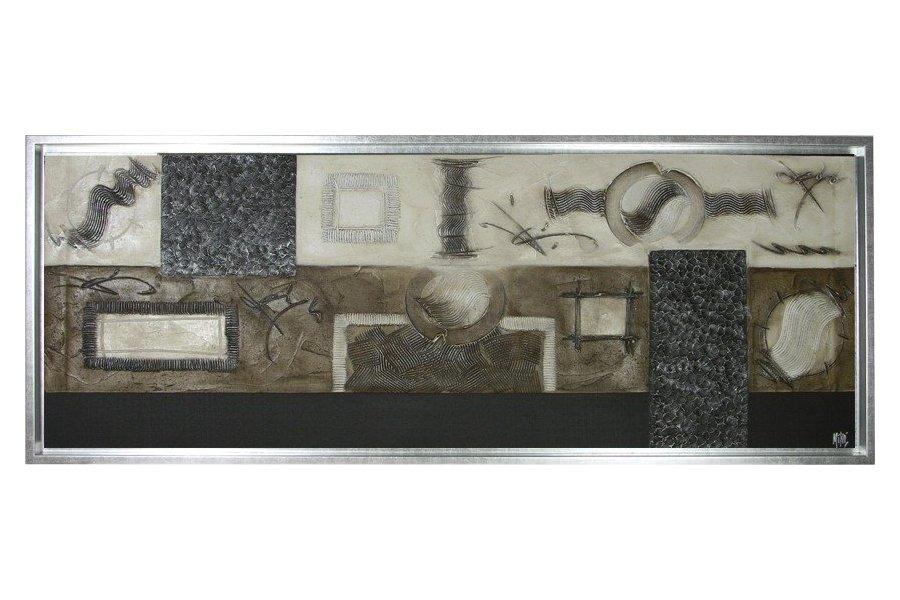 Cuadro abstracto con marco plata emilio rubio - Cuadros con marcos ...