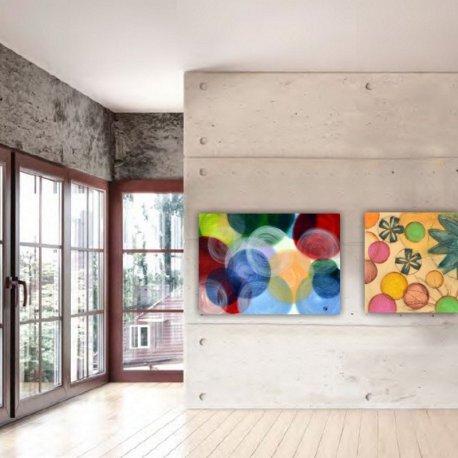 Cuadro Esferas De Color Emilio Rubio