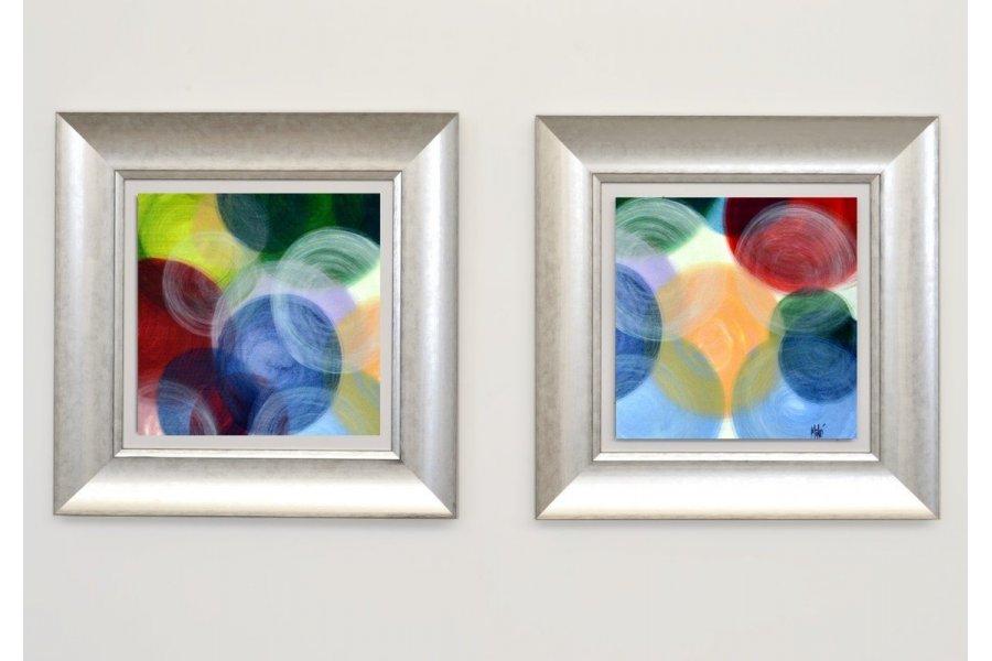 Set dos cuadros oleo y marco plata emilio rubio - Cuadros con marcos ...