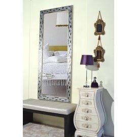 Mueble recibidor espejo blanco y plata emilio rubio - Espejo marco blanco ...