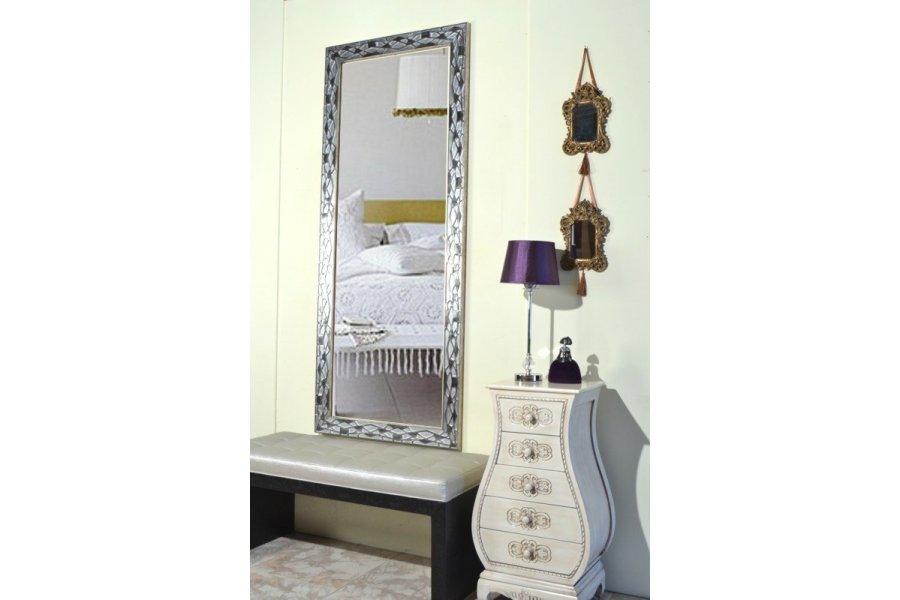 Espejo marco plata calado emilio rubio for Espejo envejecido precio