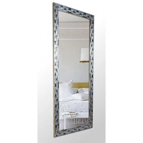 Espejo con marco plata vieja emilio rubio for Espejos con marco plateado