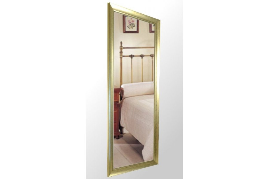 Espejo con marco oro rozado emilio rubio - Espejo marco espejo ...