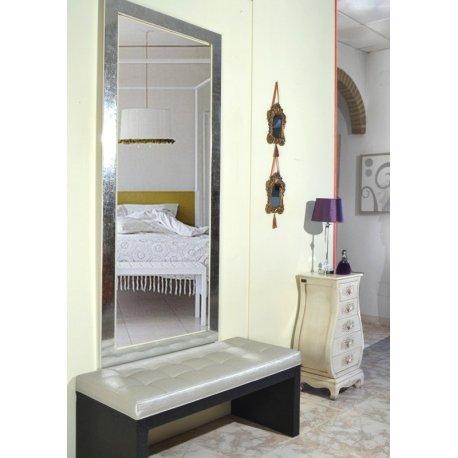 Espejo marco plata brillo emilio rubio for Espejo pared plata