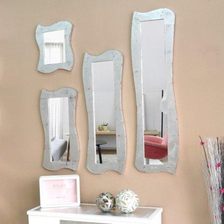 Espejo marco plateado moderno emilio rubio for Espejos con marco plateado