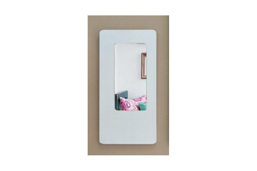 Espejo con marco blanco decap for Espejo pared marco blanco