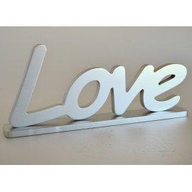 Letras LOVE plateadas