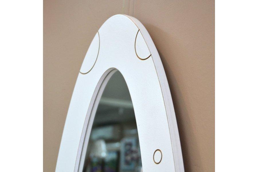 espejo marco ovalo blanco burbujas emilio rubio