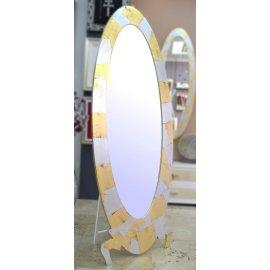 Espejo Vestidor Ovalo Plata y oro