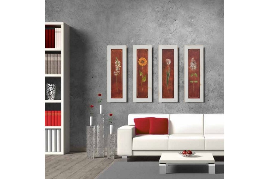 Set cuadros blanco rústico Mediterráneo - Emilio Rubio