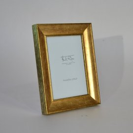 Marco portafotos Dorado oro cuarteado