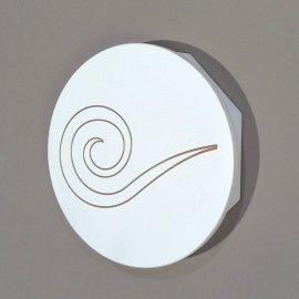 Caja Llaves circulo aluminio blanco