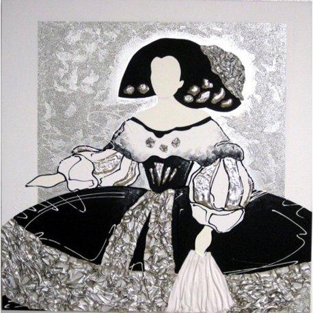 Cuadro menina blanco y negro emilio rubio - Cuadro meninas moderno ...