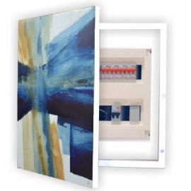 Cubre contador abstracto Azules