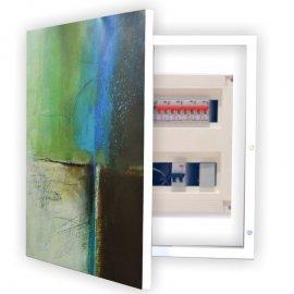 Cubrecontador Abstracto con Verdes y Azul