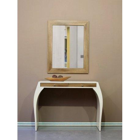 Mueble recibidor consola beige y espejo roble emilio rubio - Mueble recibidor rustico ...