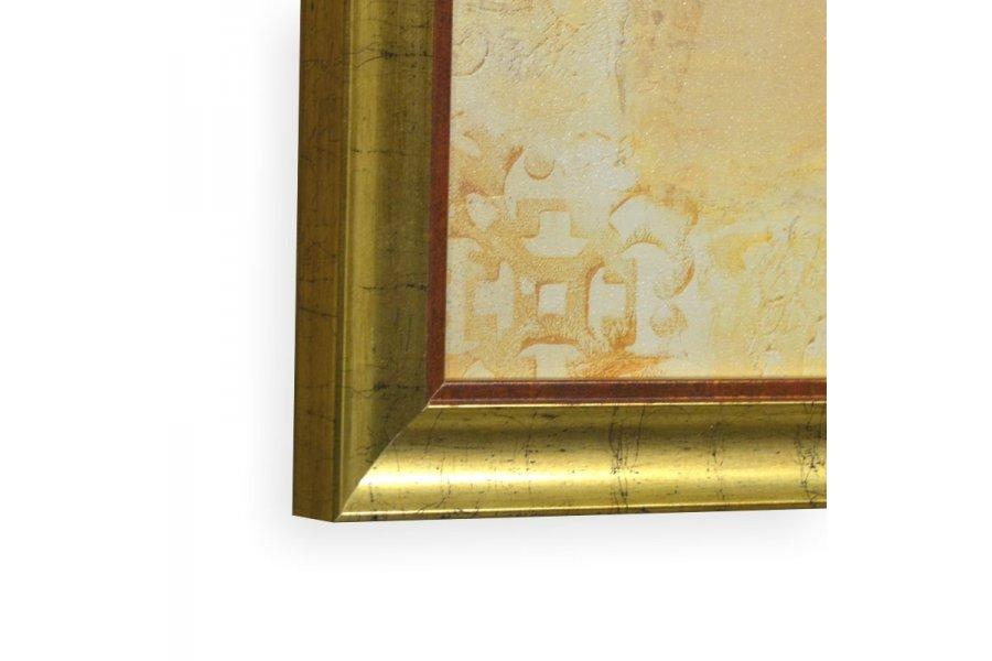 dos cuadros con flores. marco dorado