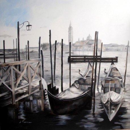 Cuadro con paisaje de Venecia I