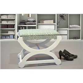 Pie de cama blanco y turquesa 60 cm.
