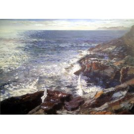 Cuadro con paisaje marino I
