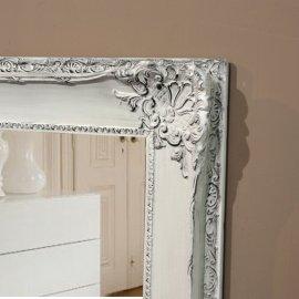 Espejo Vestidor estilo Isabelino Blanco Decapé