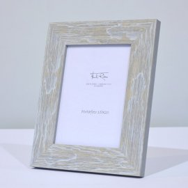 Marco para fotos en madera gris