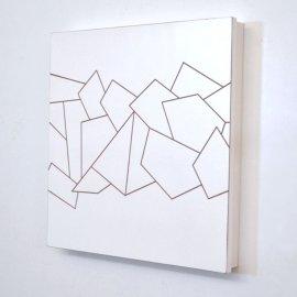 Cubre contador Blanco Grabado 49x49 cm.