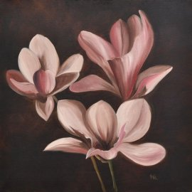 Cuadro con Magnolias II