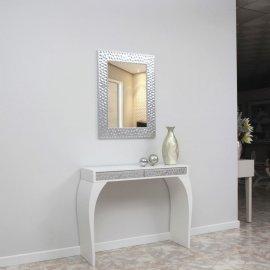 Recibidor con consola y espejo Plateados