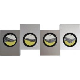 Cuadro aluminio-acero-pistacho