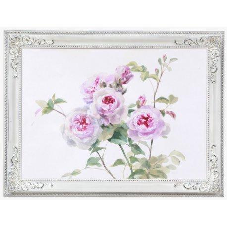 Cuadro rosal. Marco estilo Isabelino