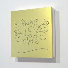 Caja guarda llaves en pan de oro