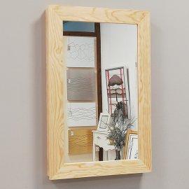 Tapa contador de madera natural con Espejo