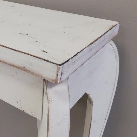 Mueble para entrada blanco decapé. Estilo vintage