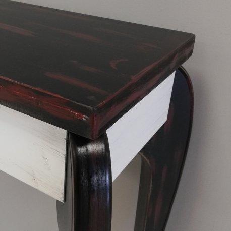 Mueble de entrada en negro y blanco Vintage