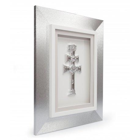 Cruz de Caravaca Plata y marco plata
