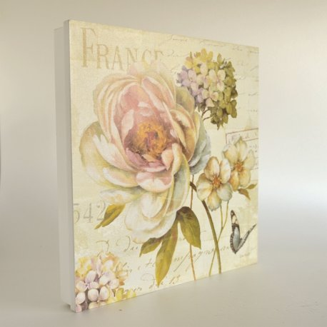 Cuadro cubre contador FRANCE flores