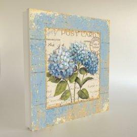Cuadro cubre contador azul POST CARD