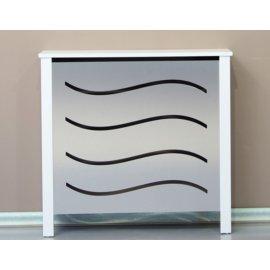 Cubre radiador aluminio y blanco olas
