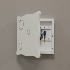 Caja llaves decorativa blanco