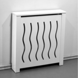 Cubre radiador blanco ondas