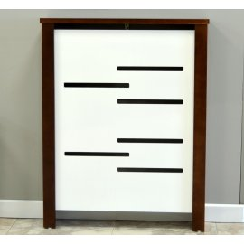 Cubre radiador Nogal y blanco