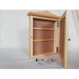 Caja guarda llaves madera natural para pintar en casa